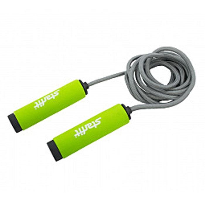 Фото - Скакалка Starfit RP-105, цвет: зеленый, серый, длина 3 м скакалка starfit rp 104 с подшипниками цвет синий черный длина 3 05 м