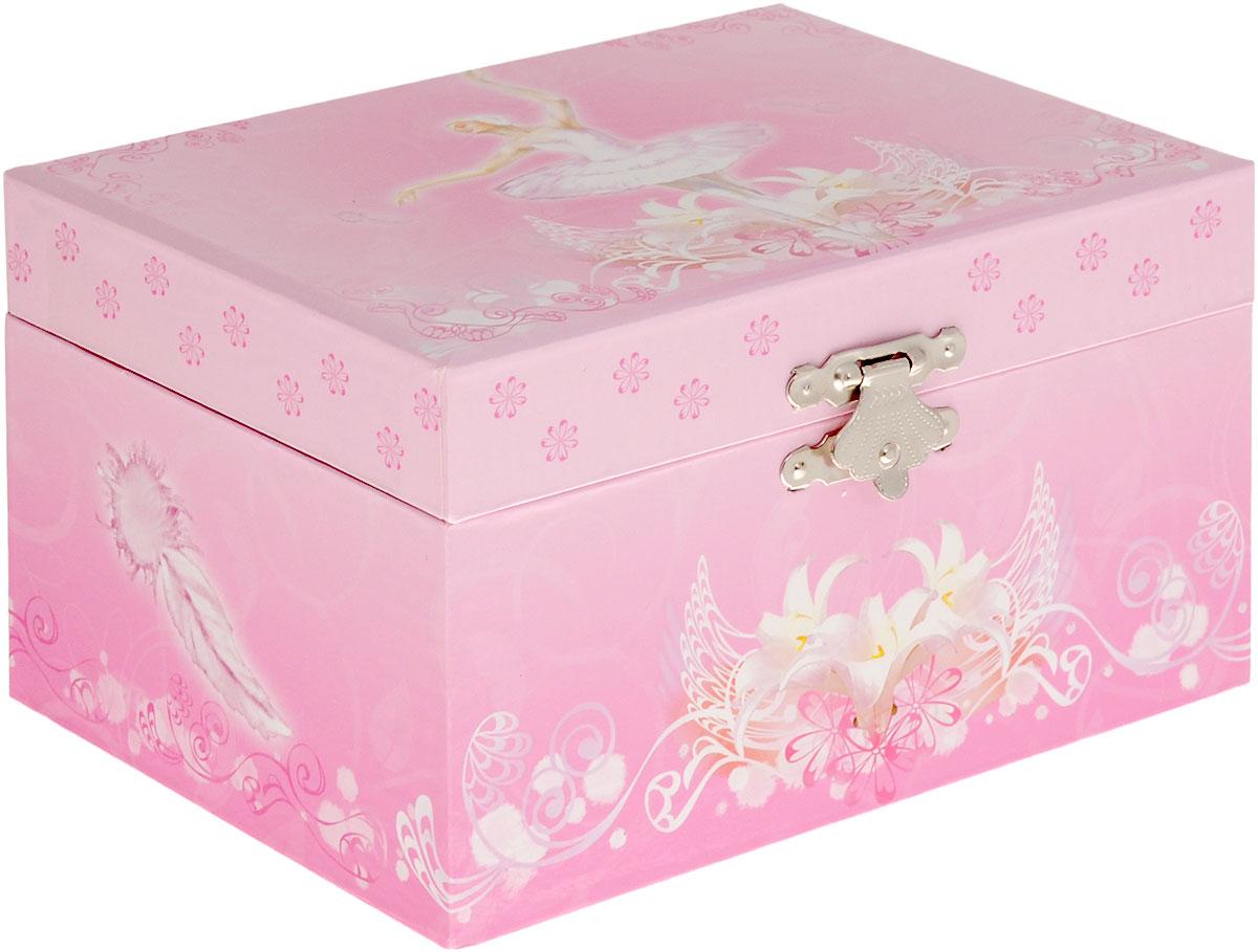 Jakos Музыкальная шкатулка Балерина цвет розовый белый стоимость