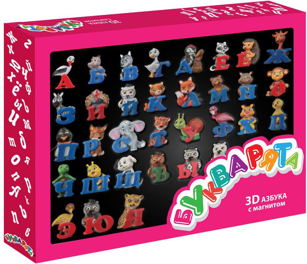 Букварята Обучающая игра 3D азбука фабрика фантазий обучающая игра фигурки животных чей малыш 60097