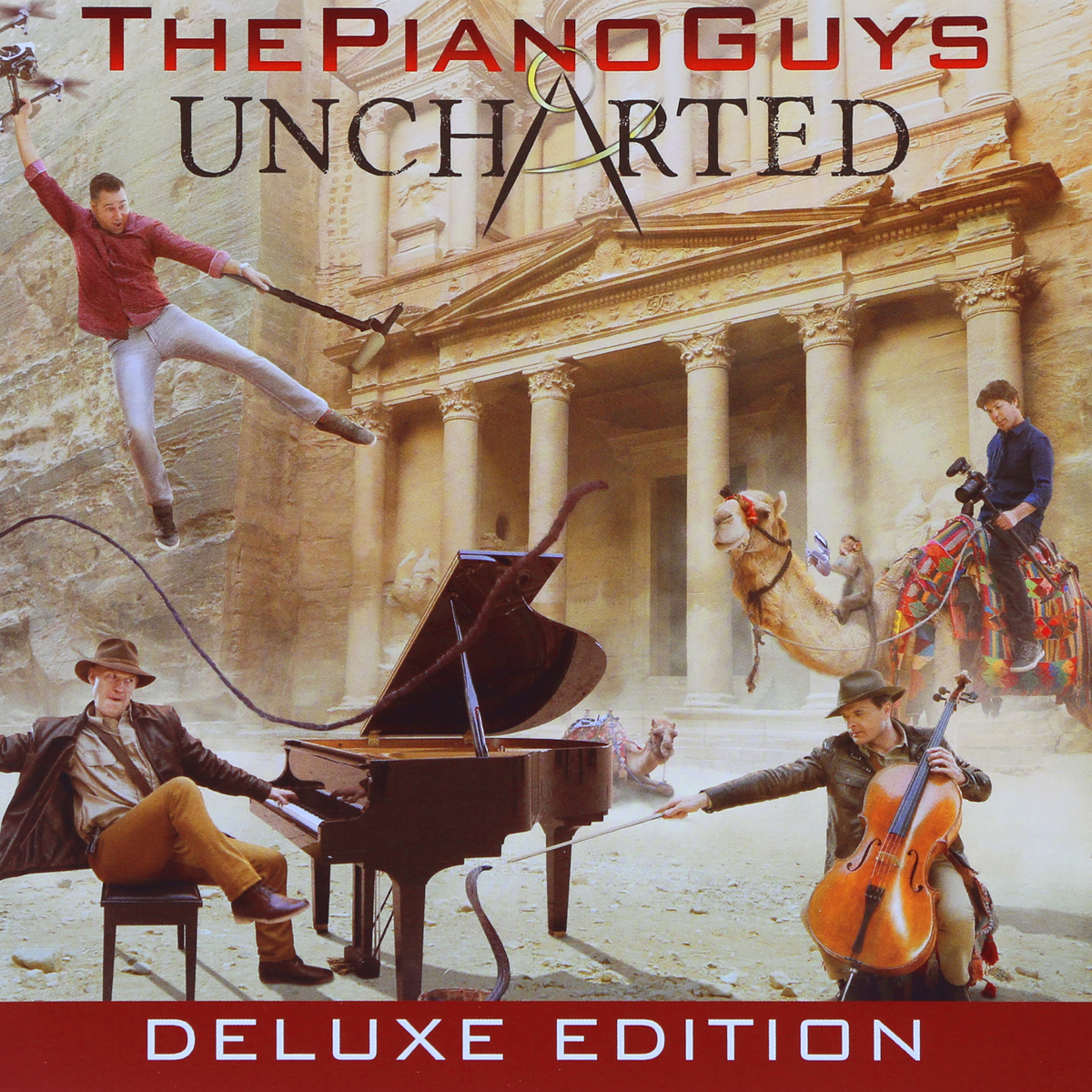 The Piano Guys The Piano Guys. Uncharted. Deluxe Edition (CD + DVD) notte magica a tribute to the three tenors deluxe cd dvd