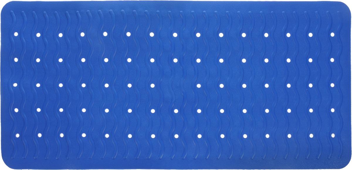 Коврик для ванной Ridder Playa, противоскользящий, цвет: синий, 38 х 80 см коврик для ванной axentia совы противоскользящий 69 х 38 см