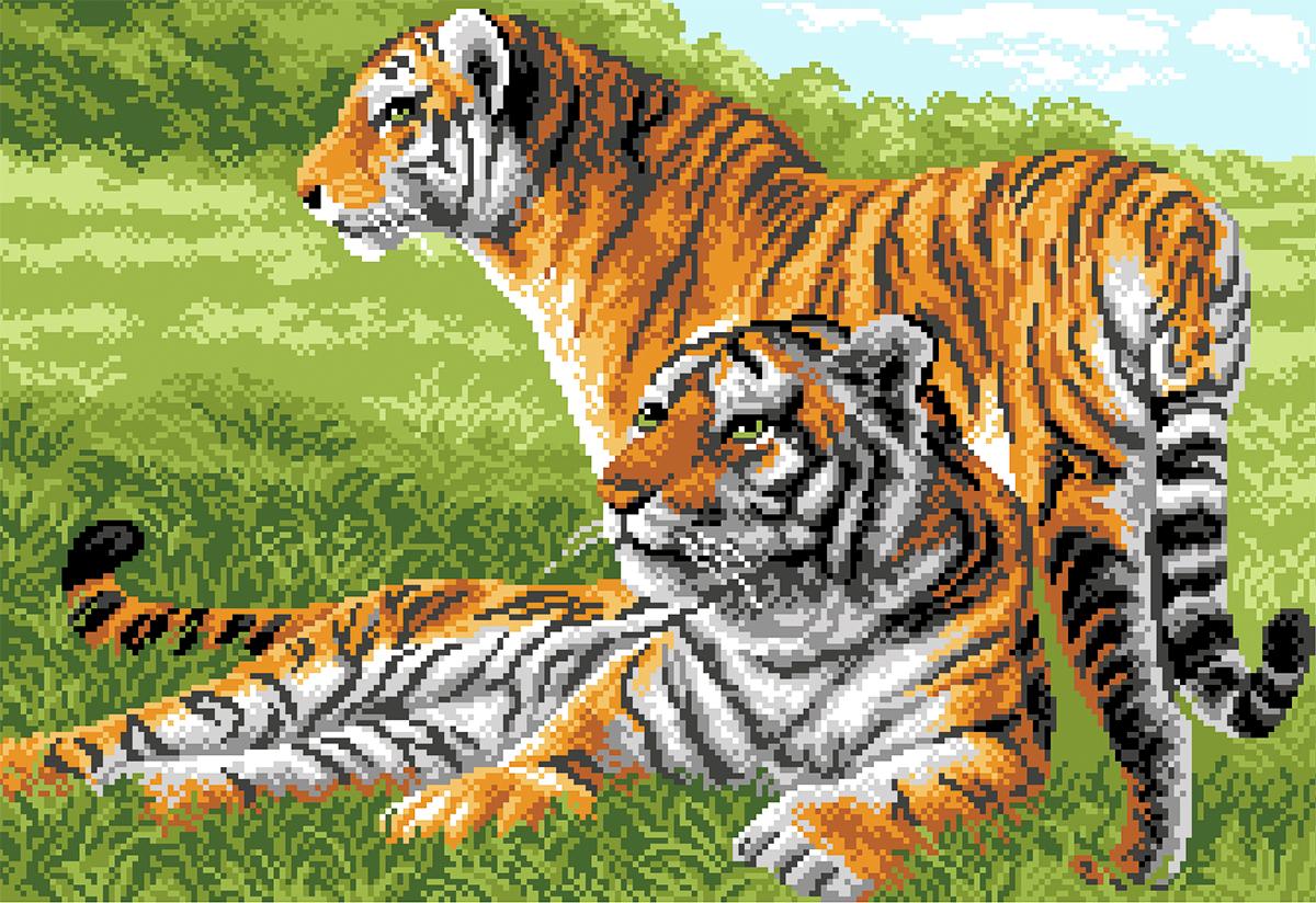 Картинки для вышивания крестиком животные