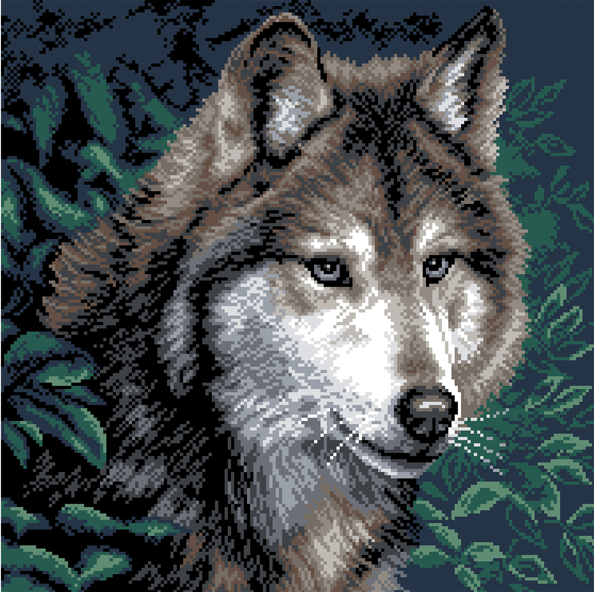Волк вышивка картинки