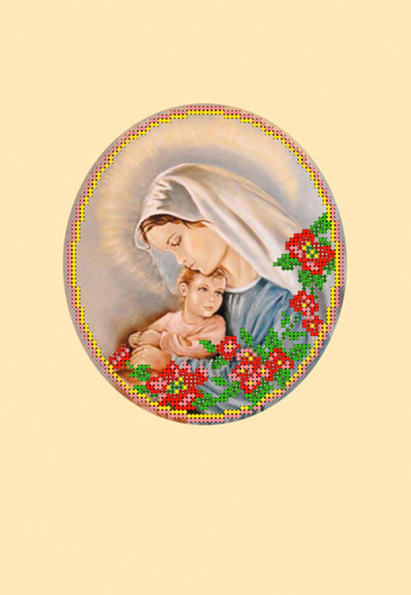 Набор для вышивания бисером Матренин Посад Мать и дитя, с паспарту, 20,5 х 30 см наборы для шитья матренин посад набор для шитья и вышивания мороз красный нос
