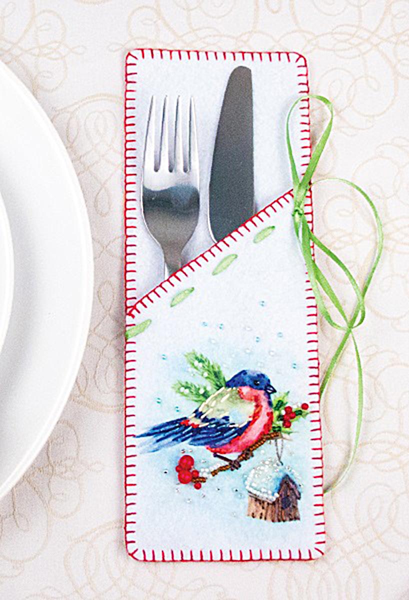Набор для шитья и вышивания Матренин Посад Снегирь, 8 х 23 см наборы для шитья матренин посад набор для шитья и вышивания мороз красный нос