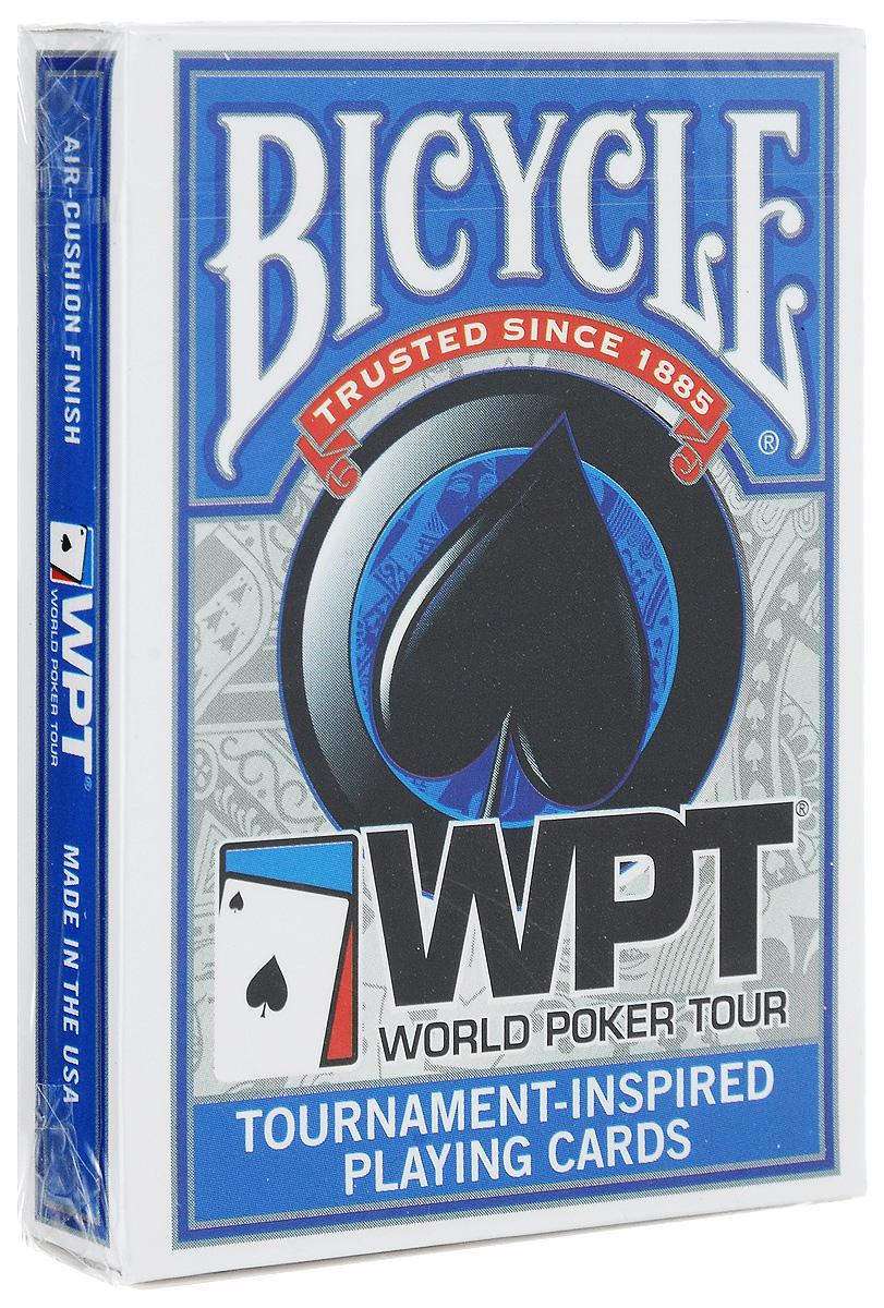 Карты игральные Bicycle WPT, цвет: синий, 54 шт игральные карты bicycle spectrum deck цвет мультиколор 56 шт