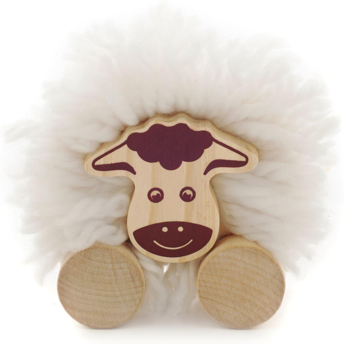 Мир деревянных игрушек Игрушка-каталка Помпон Овечка конструкторы мир деревянных игрушек мди сборная модель ванная комната