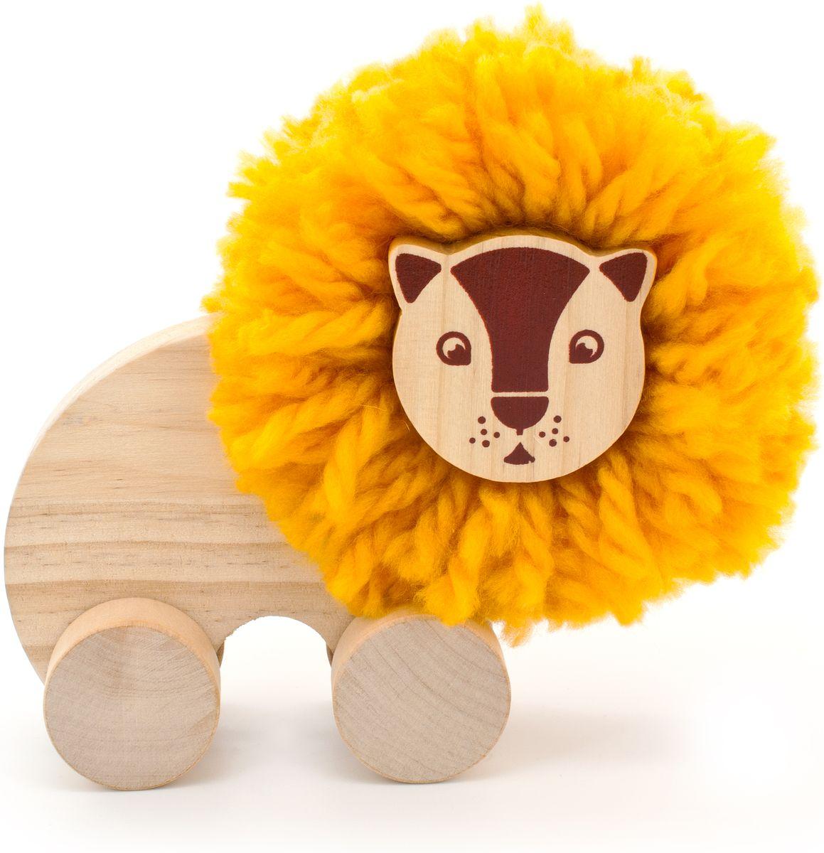 Мир деревянных игрушек Игрушка-каталка Помпон Лев конструкторы мир деревянных игрушек мди сборная модель ванная комната