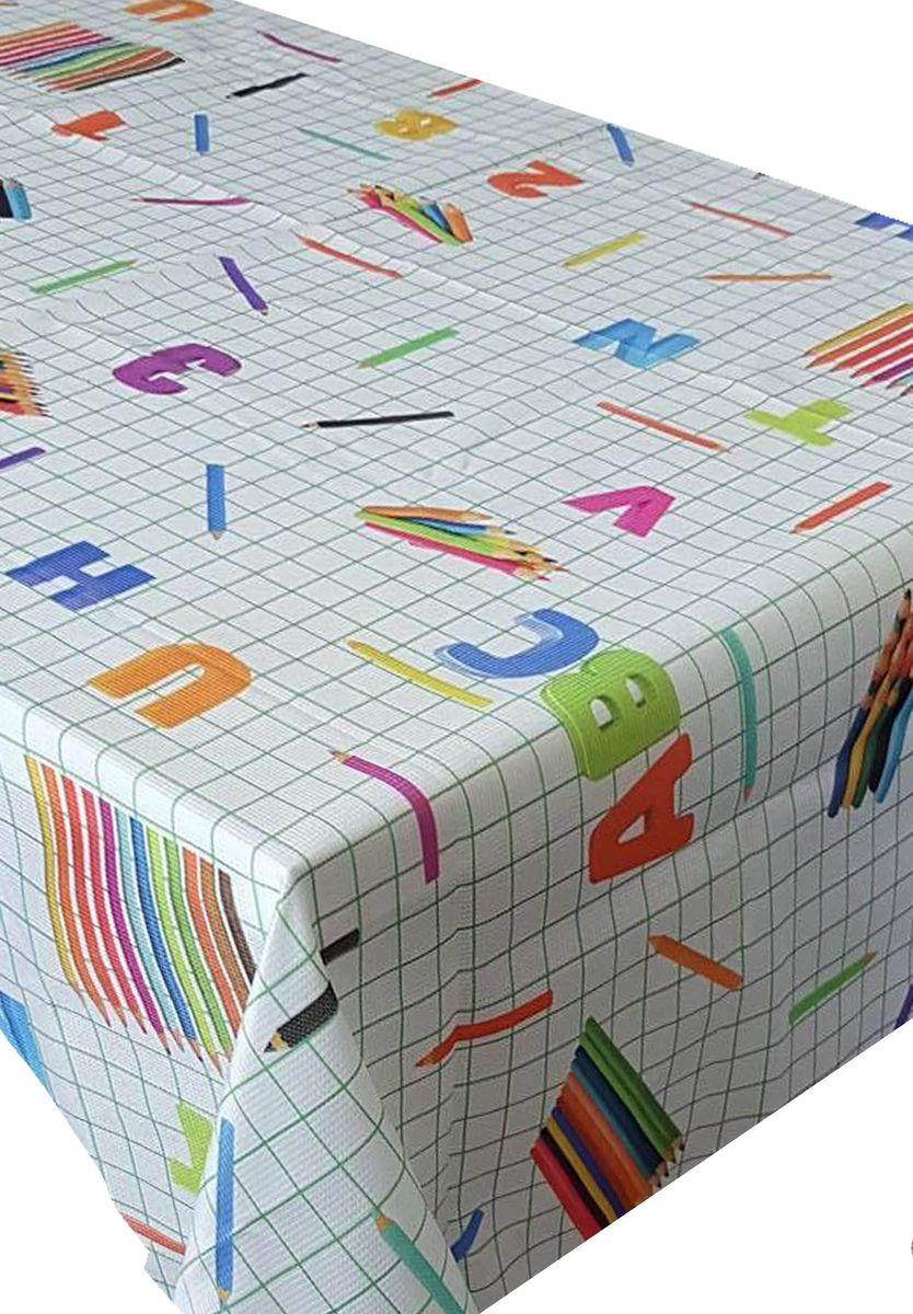 Скатерть Ambesonne Карандаши и азбука, квадратная, 150 x 150 см скатерть ambesonne морские звезды квадратная 150 x 150 см