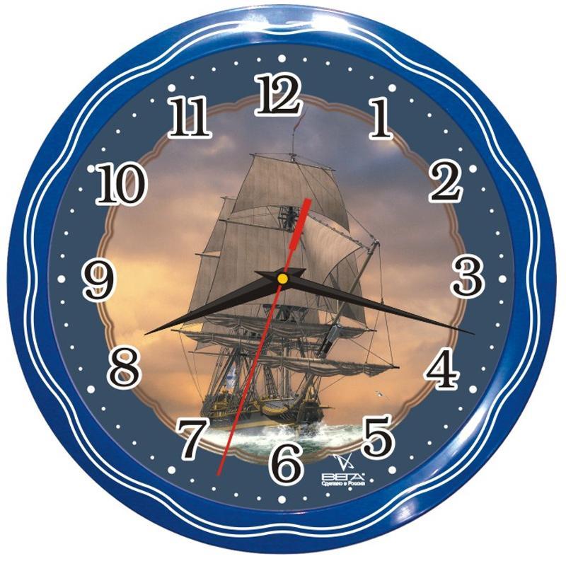 Часы настенные Вега ФрегатП1-1074/7-13Оригинальные настенные часы круглой формы Вега Фрегат выполнены из пластика. Часы имеют три стрелки - часовую, минутную и секундную. Необычное дизайнерское решение и качество исполнения придутся по вкусу каждому. Оформите свой дом таким интерьерным аксессуаром или преподнесите его в качестве презента друзьям, и они оценят ваш оригинальный вкус и неординарность подарка.