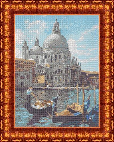 Фото - Канва с нанесенным рисунком Каролинка Венеция, для вышивания бисером и крестом, 27 х 37 см канва с рисунком каролинка триптих икона для вышивания бисером или крестом 40 х 23 см кби 3002 ж
