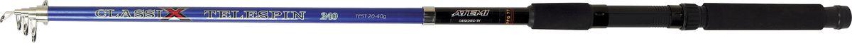 Удилище спиннинговое телескопическое Atemi Classix Telespin, с неопреновой ручкой, 2,7 м, 20-40 г удилище фидерное atemi classix feeder heavy с неопреновой ручкой 3 м 80 150 г