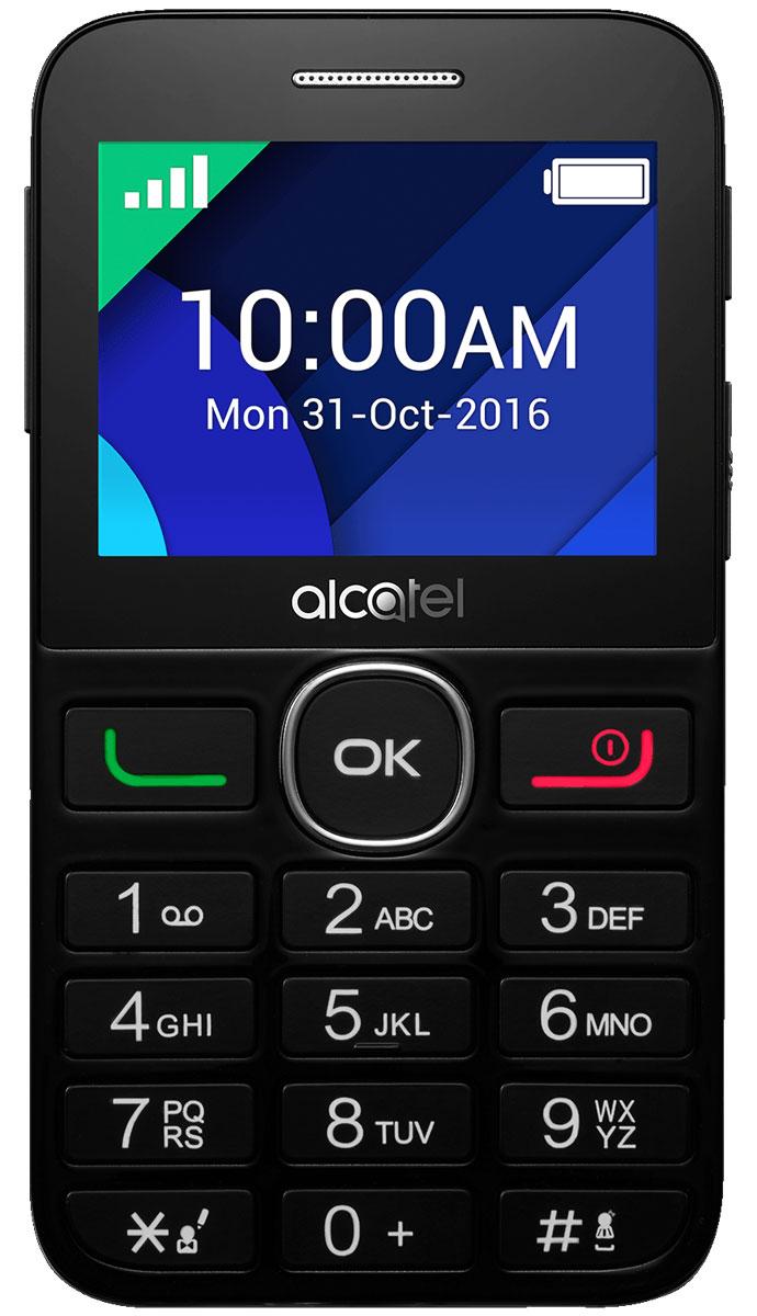 Мобильный телефон Alcatel 2008G, черный телефон qukitel