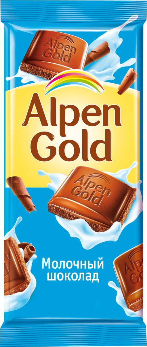 Alpen Gold шоколад молочный, 90 г путешествие шоколад