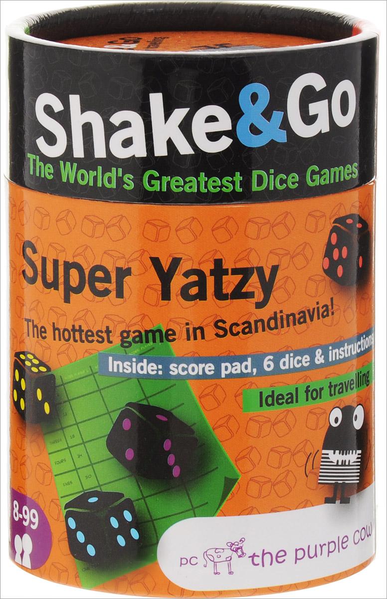 The Purple Cow Настольная игра Super Yatzy26108В настольной игре The Purple Cow Super Yatzy можно играть как одному, так и с компанией.Цель игры - набрать наибольшее количество очков и закрыть все категории, указанные в листке для записи результатов. В течение хода у игрока 3 попытки (броска). После каждого броска игрок может или отложить часть кубиков, или заново бросить все кубики. Система подсчета очков подробно описана в прилагаемой инструкции на русском языке.