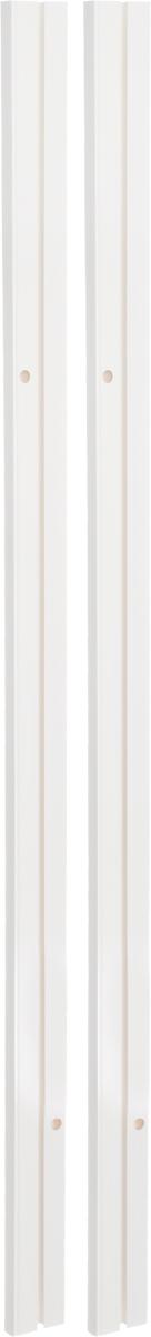 Карниз шинный потолочный Эскар, составной, однорядный, с аксессуарами, цвет: белый, длина 200 см кружка весы 350 мл easy life s p a кружка весы 350 мл