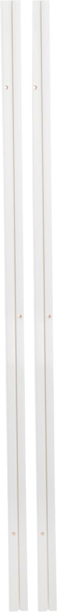 Карниз шинный потолочный Эскар, составной, однорядный, с аксессуарами, цвет: белый, длина 300 см карнизы и аксессуары для штор уют карниз пиано цвет античное золото 400 см