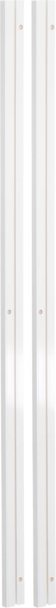 Карниз шинный потолочный Эскар, составной, однорядный, с аксессуарами, цвет: белый, длина 240 см карнизы и аксессуары для штор уют карниз пиано цвет белый 250 см