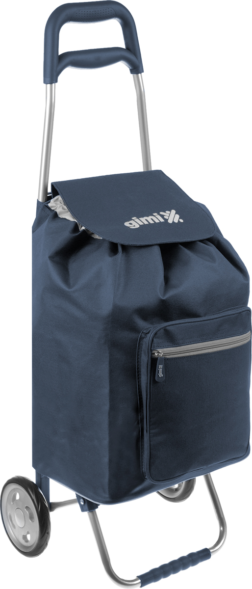 Сумка-тележка Gimi Argo, цвет: темно-синий, серый, 45 л цена