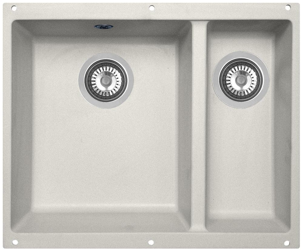 Мойка кухонная Zigmund & Shtain, подстольная, 2 чаши, цвет: индийская ваниль. integra5002 кухонная мойка zigmund