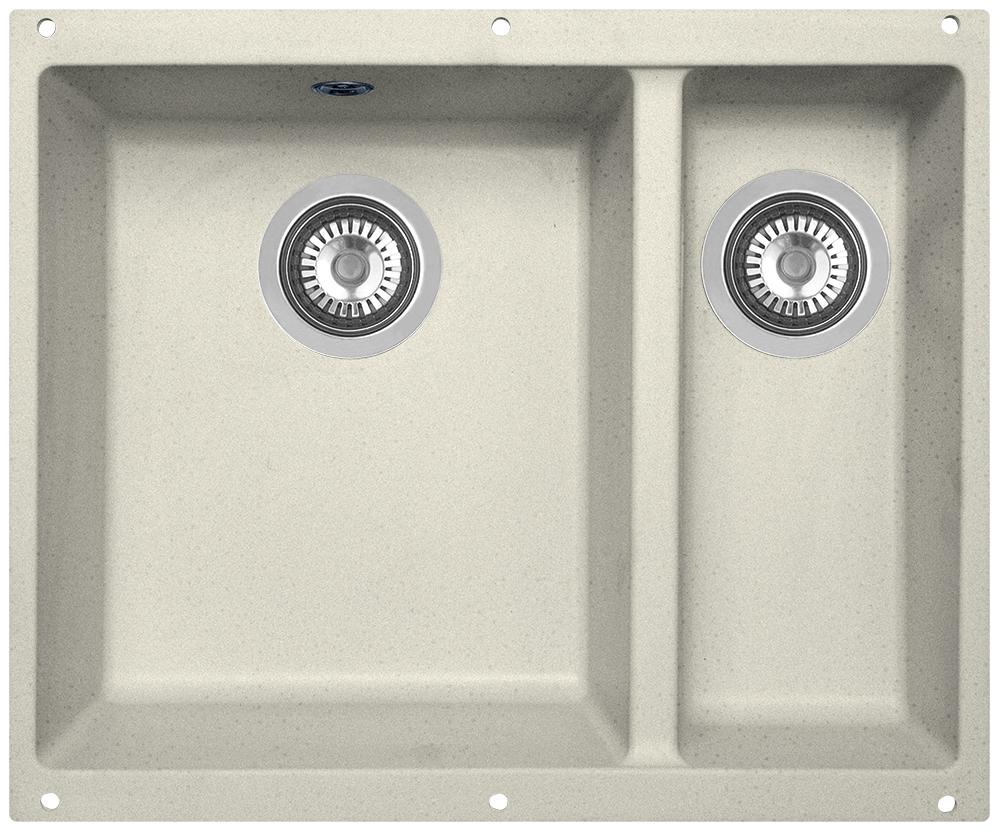 Мойка кухонная Zigmund & Shtain, подстольная, 2 чаши, цвет: каменная соль. integra5002 кухонная мойка zigmund