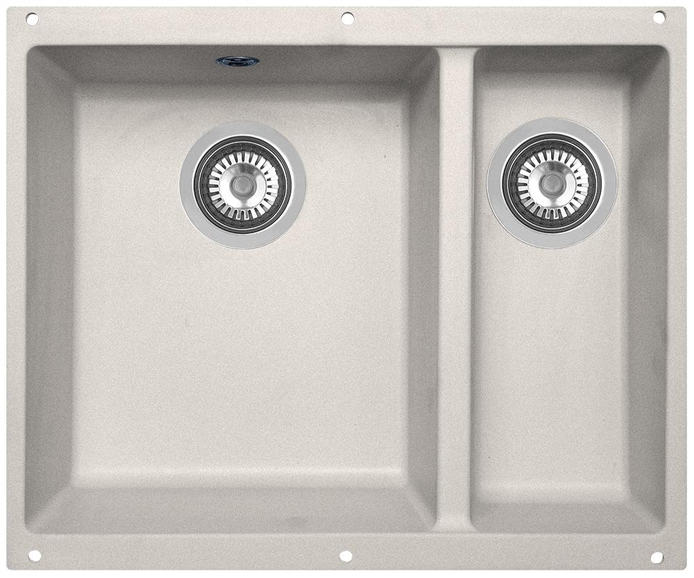 Мойка кухонная Zigmund & Shtain, подстольная, 2 чаши, цвет: осенняя трава. integra5002 кухонная мойка zigmund