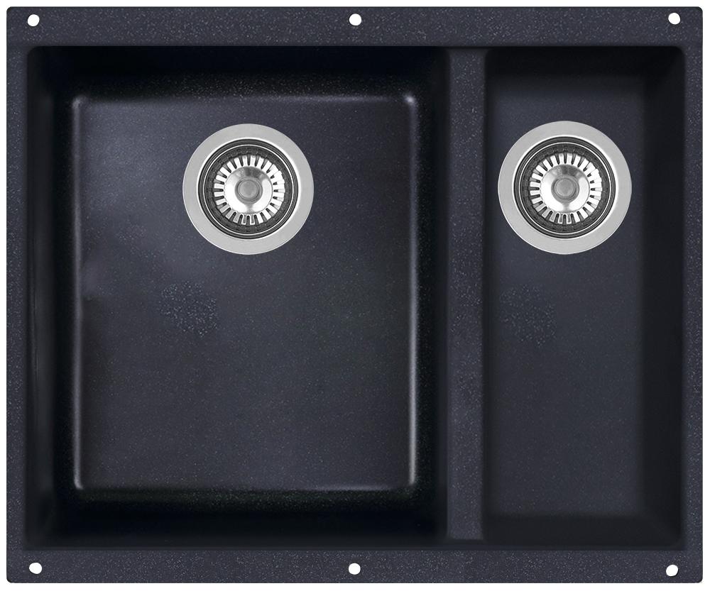 Мойка кухонная Zigmund & Shtain, подстольная, 2 чаши, цвет: темная скала. integra5002 кухонная мойка zigmund