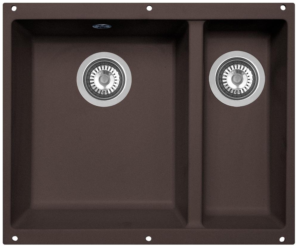 Мойка кухонная Zigmund & Shtain, подстольная, 2 чаши, цвет: швейцарский шоколад. integra5002 кухонная мойка zigmund
