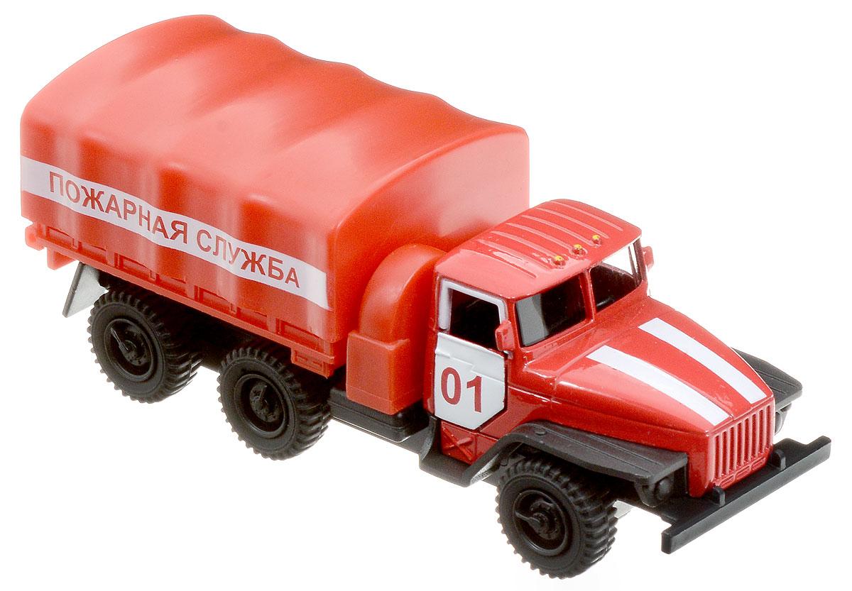 ТехноПарк Машина инерционная Урал Пожарная служба игрушка технопарк пожарная машина 251a1 r