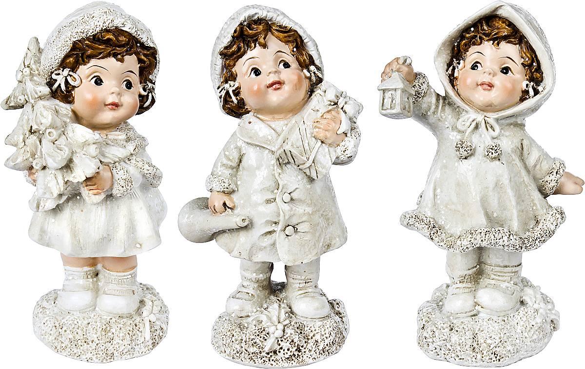 Набор новогодних фигурок Mister Christmas, высота 10 см, 3 шт игрушка новогодняя мягкая mister christmas пряничная девочка высота 13 см