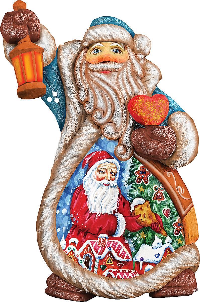 Украшение новогоднее подвесное Mister Christmas Дед Мороз, коллекционное, высота 10 см. US 661211 украшение новогоднее подвесное mister christmas дед мороз коллекционное высота 10 см us 661211