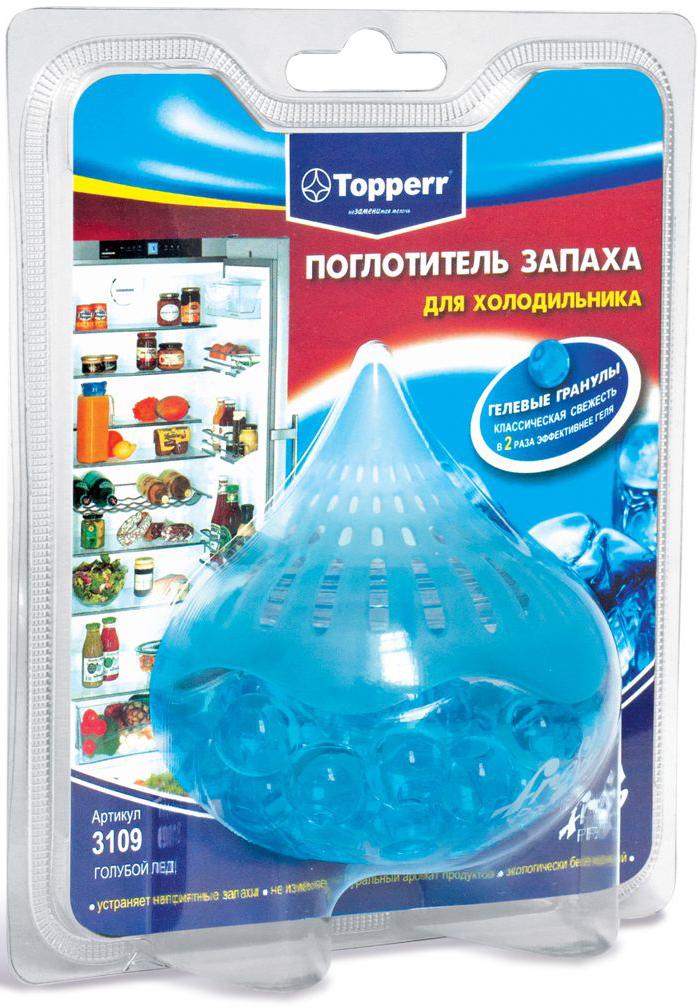 Поглотитель запаха для холодильника Topperr Голубой лед, гелевый, 100 г поглотитель запаха для холодильника topperr шар 3 шт