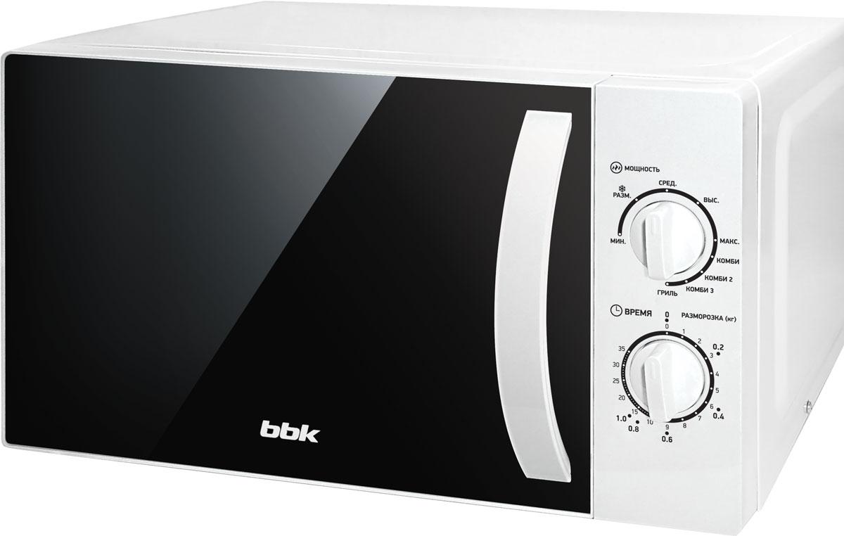 BBK 20MWG-738M/W, White СВЧ-печь микроволновая печь bbk bbk 20mwg 738m w 700 вт белый