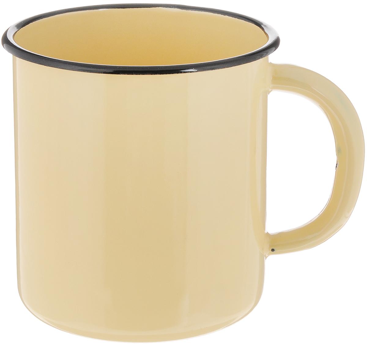 Кружка эмалированная СтальЭмаль, цвет: желтый, черный, 1 л2с3Кружка СтальЭмаль изготовлена из высококачественной стали с эмалированным покрытием. Такая кружка не требует особого ухода, и ее легко мыть. Изделие прекрасно подходит для подогрева молока и многого другого. Диаметр кружки (по верхнему краю): 11,5 см. Высота кружки: 12 см.