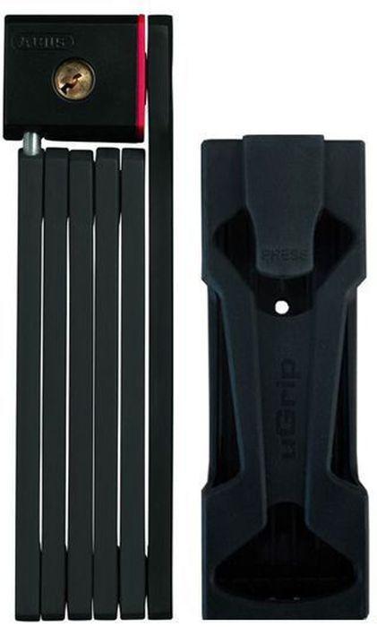 Велозамок Abus Bordo uGrip 5700/80, с ключами, цвет: черный велозамок abus bordo big 6000 120 с ключами цвет красный