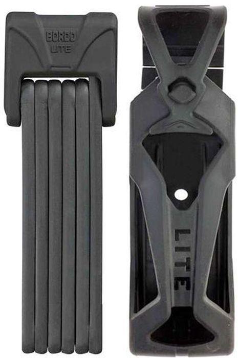 Велозамок Abus Bordo Lite 6050/85, с ключами, цвет: черный