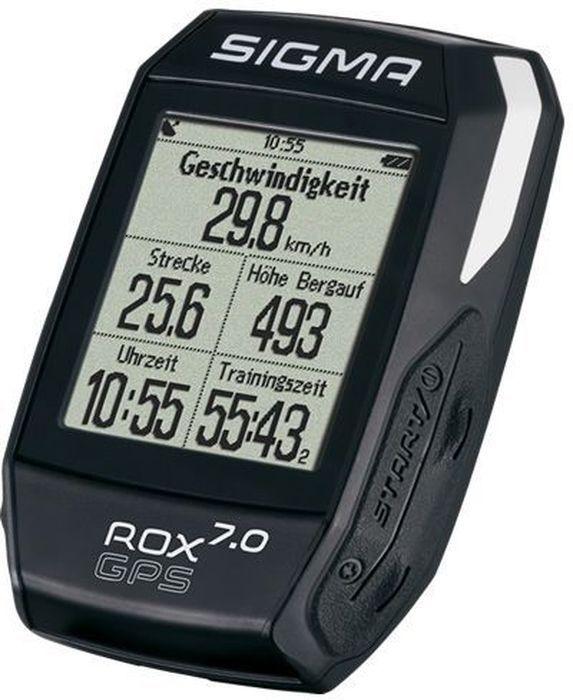 Велокомпьютер Sigma ROX 7.0 GPS, цвет: черный