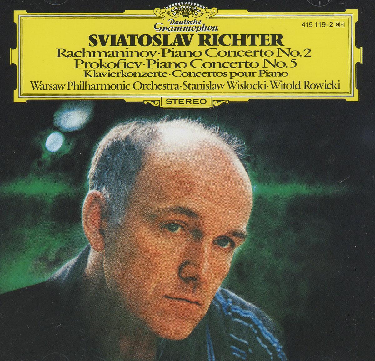 Sergei Rachmaninov. Piano Concerto No. 2 / Sergei Prokofiev. Piano Concerto No. 5. Sviatoslav Richter святослав рихтер sviatoslav richter piano s rachmaninov etudes tableaux from op 33 and op 39 six prelides from op 23 seven preludes from op 32