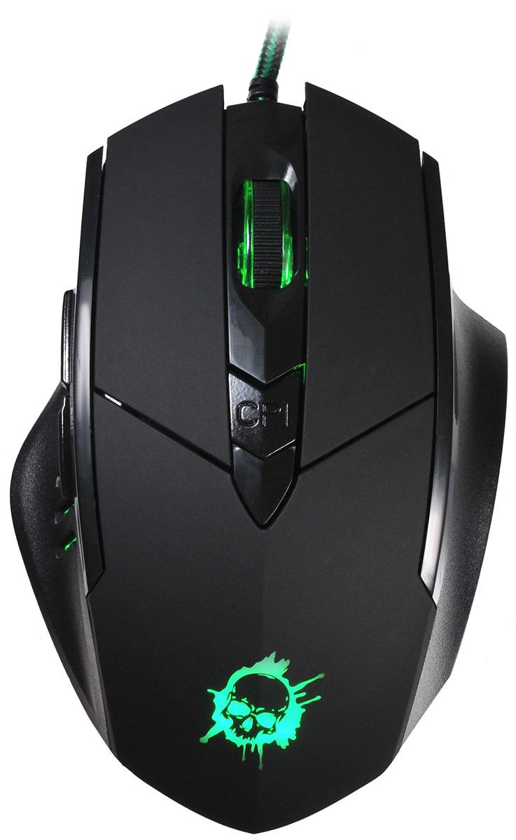 лучшая цена Игровая мышь Oklick 815G Inferno, Black
