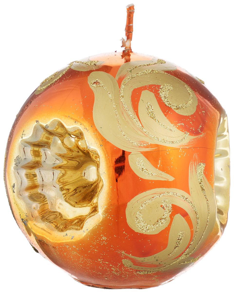 Свеча-шар Fem Рефлектор, цвет: медный, золотой, диаметр 10 см свеча декоративная proffi шар цвет белый диаметр 7 5 см