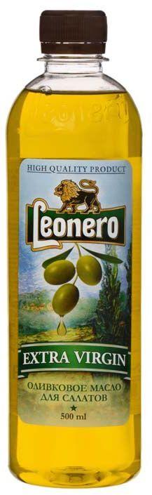 Leonero масло оливковое нерафинированное Extra Virgin, 500 мл leonero оливковое масло рафинированное для жарки 500 г