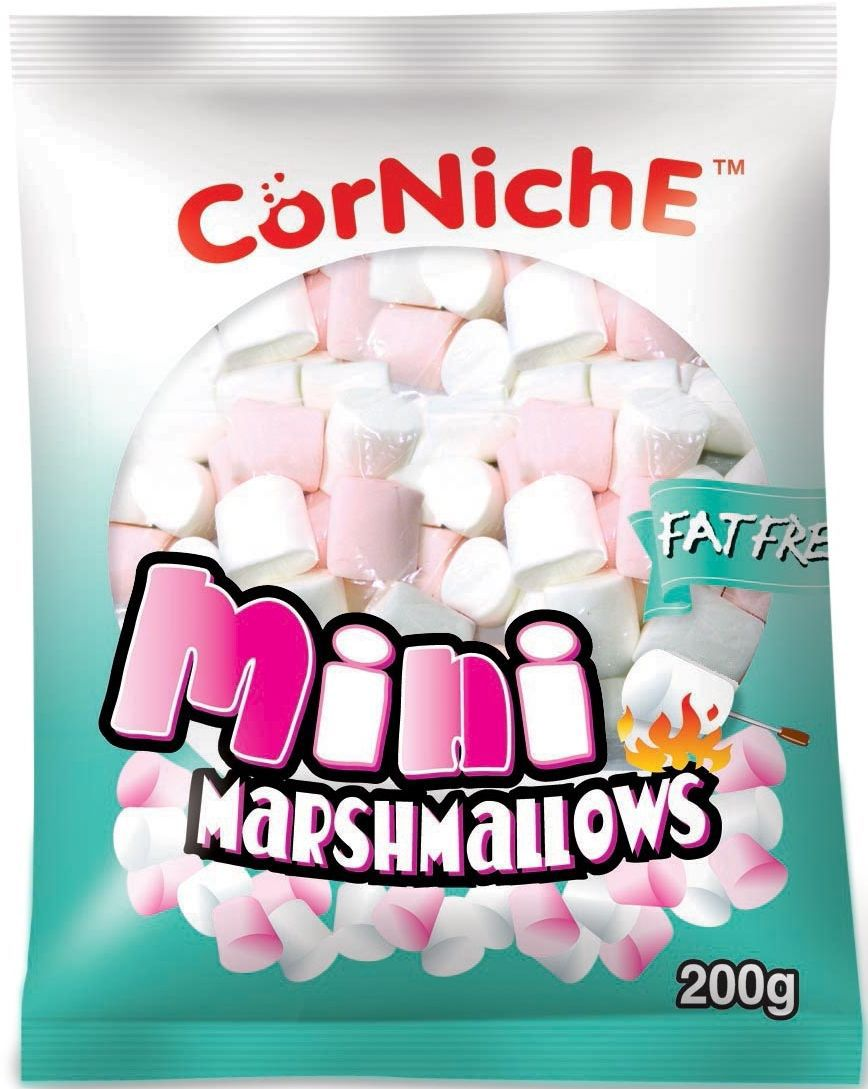 Corniche Marshmallows мини pink+white, 200 г marshmallows