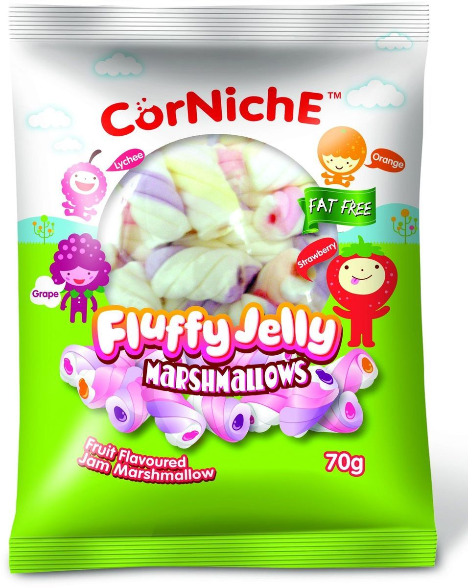 Corniche Marshmallows воздушное желе, 70 г marshmallows
