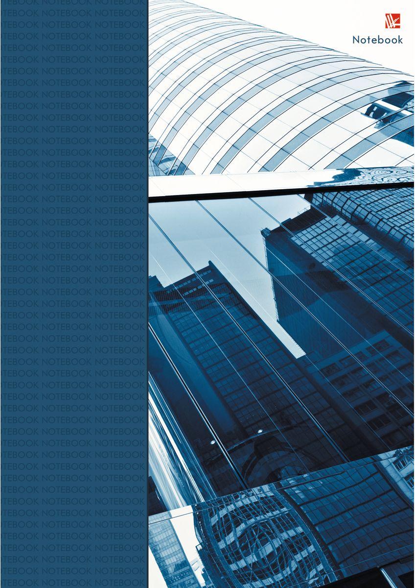 Канц-Эксмо Записная книжка Офисный стиль Деловой город 100 листов в клетку