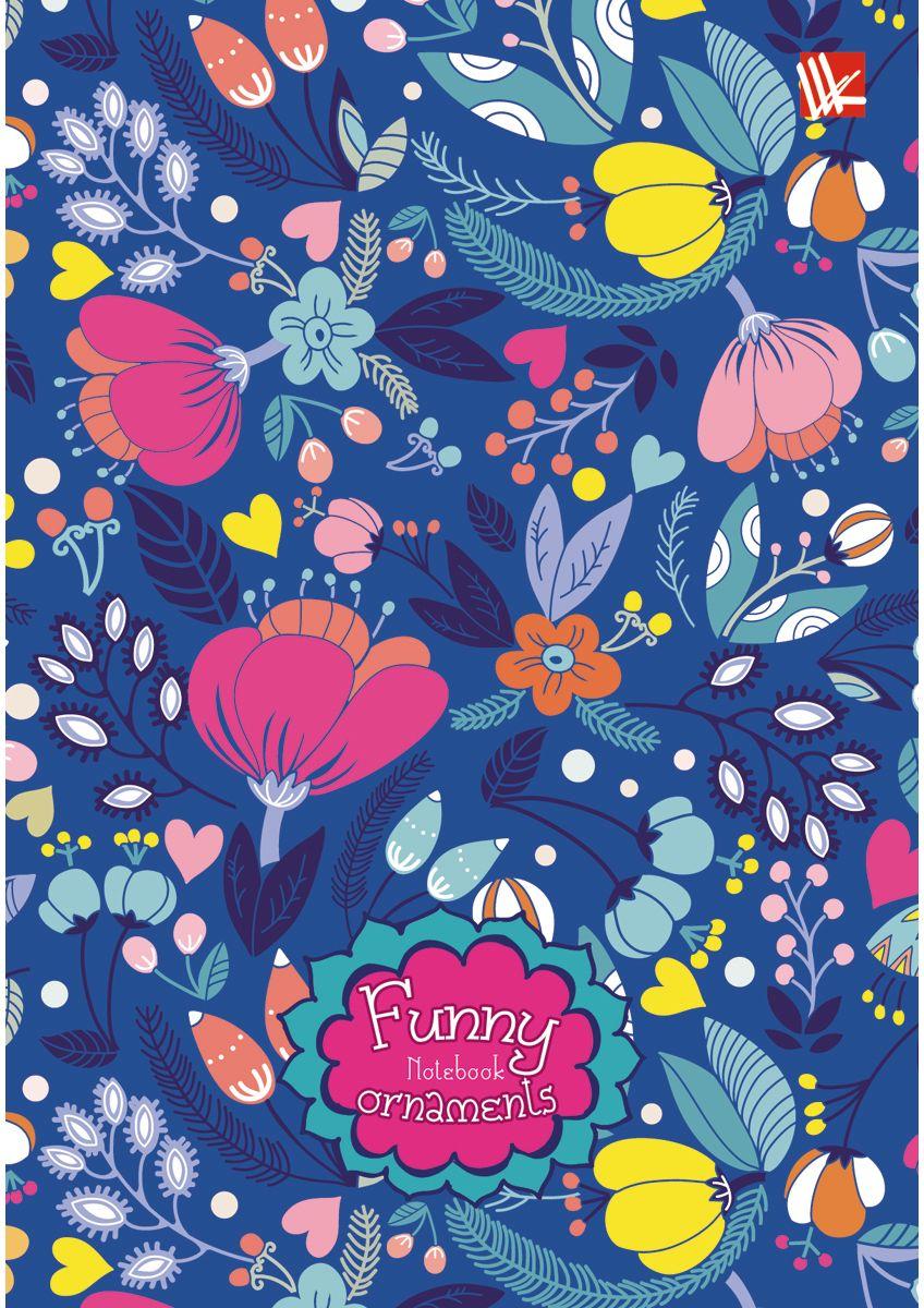 Канц-Эксмо Записная книжка Цветочные фантазии 80 листов в клетку