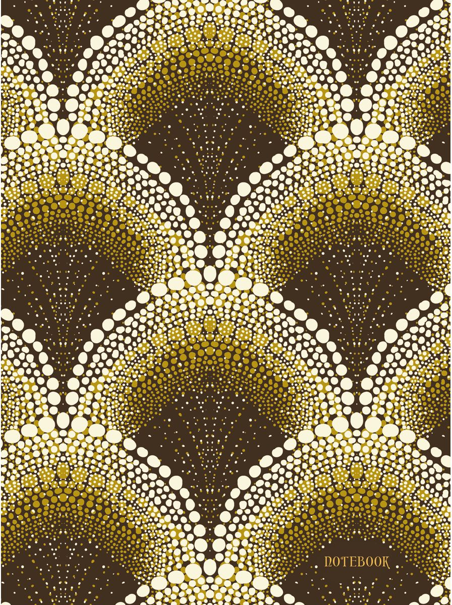 Канц-Эксмо Записная книжка Орнамент Золотые арки 128 листов в клетку