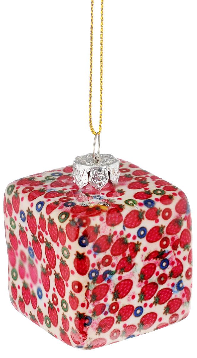 """Украшение новогоднее подвесное Lillo """"Кубик"""", высота 4 см"""