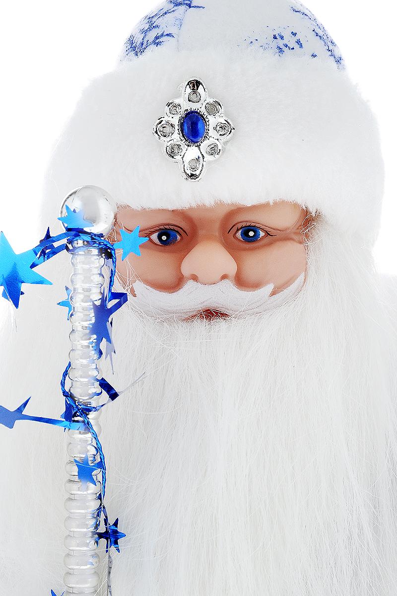 Фигурка новогодняя Winter Wings Дед Мороз музыкальная цвет белый синий высота 40 см N05287 Winter Wings