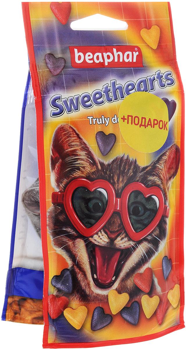 Лакомство для кошек Beaphar Sweet Hearts, 150 шт+ ПОДАРОК: Лакомство для кошек Beaphar Malt Bits, 35 г лакомство для кошек beaphar catnip bits с кошачьей мятой 150 г