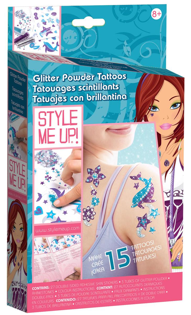 Style Me Up Набор для создания украшений Сверкающие татуировки из пудры